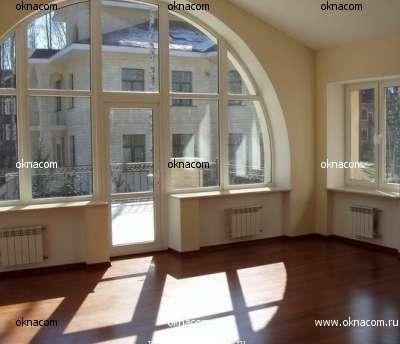 Примеры остекления нестандартными окнами